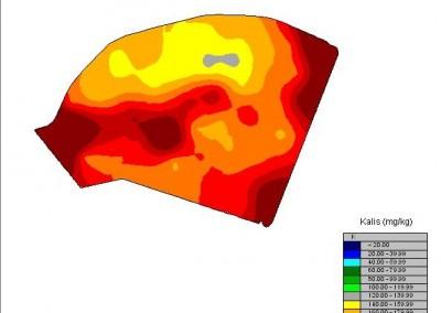 Dirvožemio sudėties žemėlapis - Kalis